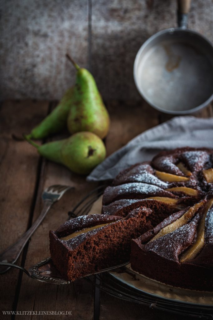 Potz Blitz Ich Mochte Nun Taglich Birnen Vanille Schokoladenkuchen
