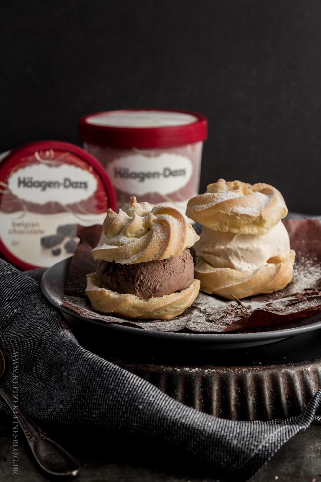 { HOLY MOLY! } Weihnachtliche Windbeutel mit Vanilla & Belgian Chocolate Eiscreme – Mein Dessert für die köstlichste Zeit des Jahres