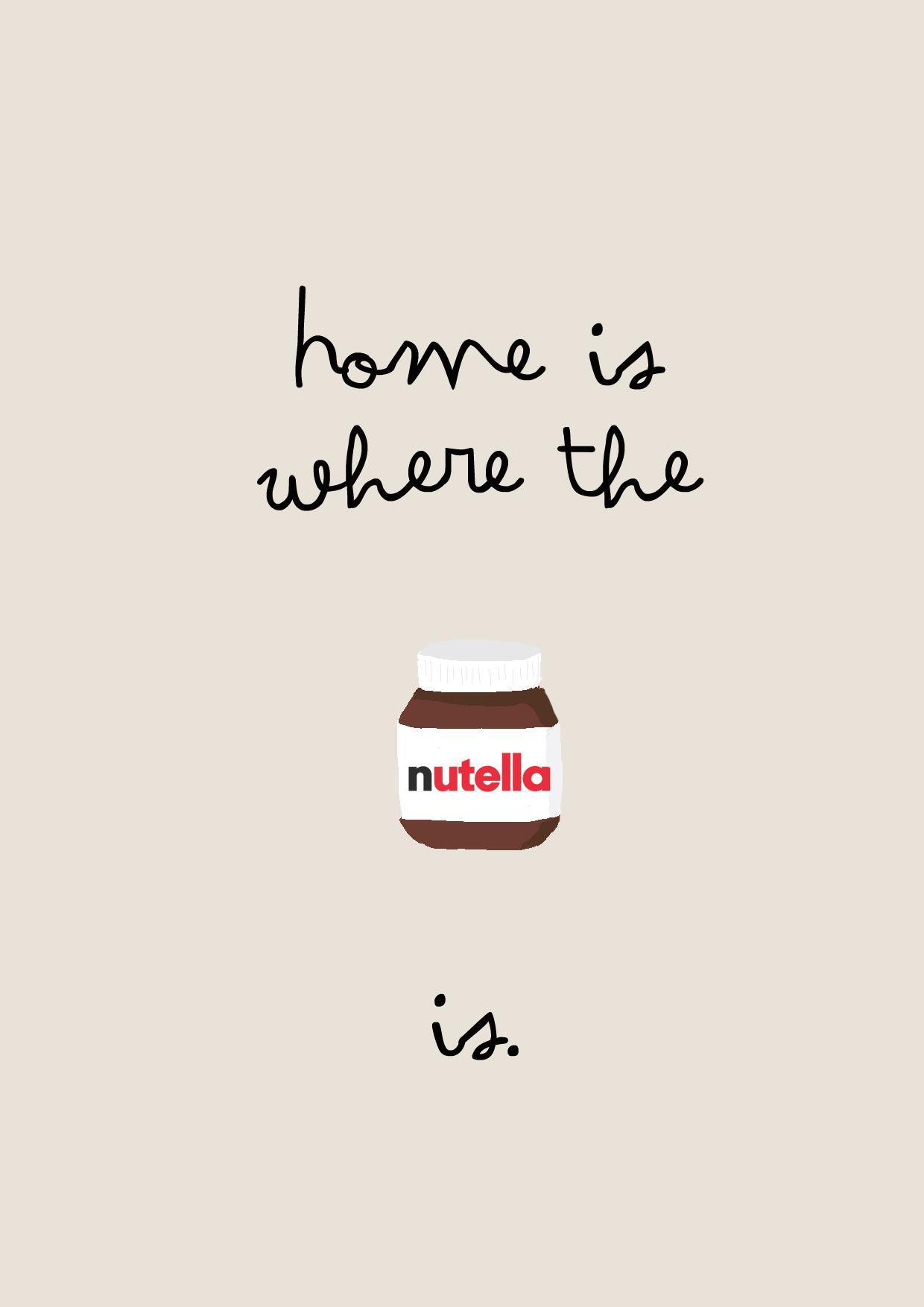 home is where the nutella is - illustration